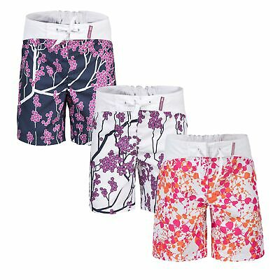 Trespass Mabel Girls White Shorts Floral Print Summer Clothes