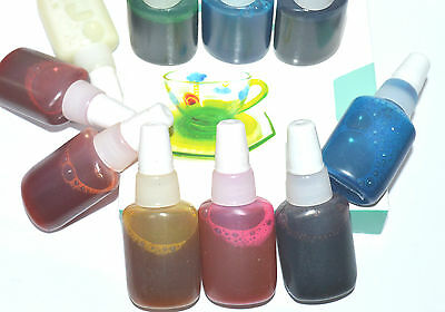 10 Glass Paint + Black Outliner Stained Window Transparent Permanent Water Based