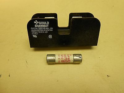 Gould Shawmut Fuse Block 30321AB with Fuse