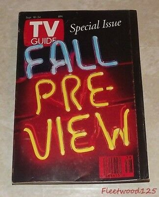 Vintage 1993 Sept. 18-24 TV Guide - Special Issue Fall Pre-View on Cover