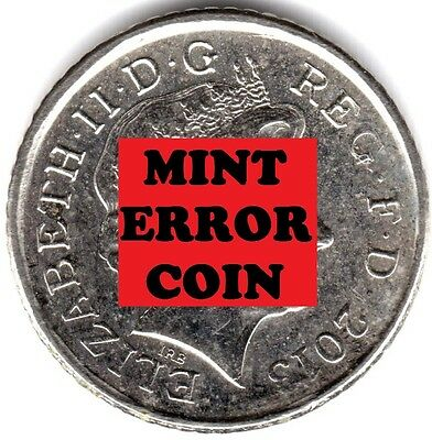 2013 5P COIN SHIELD ** ERROR MULE ** FIVE PENCE blobs lumps on the shield a