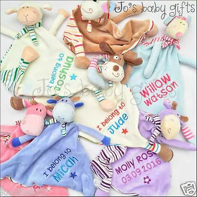 Personalised Baby Cubbie Comforter Blankie/Blanket Gift - Quality 'Cubbies' Gift