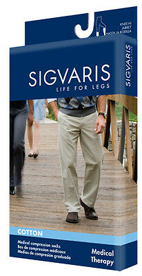 Sigvaris 230 Cotton Series 30-40 mmHg Men's Knee High