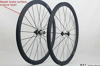 New Arrival 700C 50mmwheelset matte finish carbon road wheels with Novatec Hub a