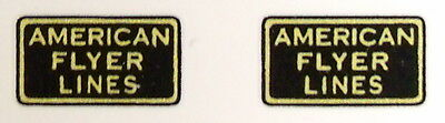 """Two American Flyer Pre-War 3/4"""" Square Waterslide Decals"""