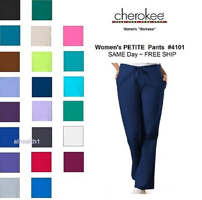 Cherokee Workwear PETITE Womens Nurse Scrub Pants  Style 4101P. ~NEW~ Free Ship