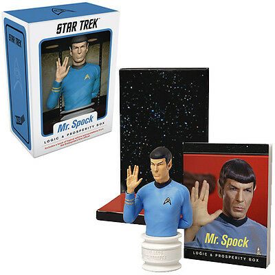 Star Trek Mr. Spock in a Box: Logic and Prosperity Booklet + Mini Bust BRAND NEW