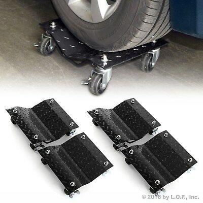 "4 X 3"" Set Tire Wheel Dollies Dolly Vehicle Car Auto Repair Moving Diamond 4 PCS"