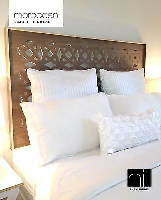 MOROCCAN SUSTAINABLE TIMBER Bedhead / Headboard for Double Ensemble - COCO