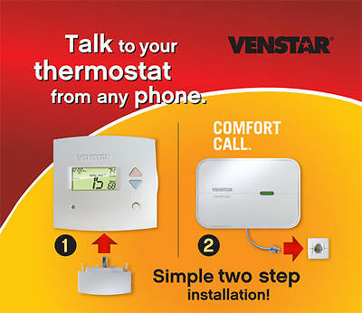 ~Discount HVAC~VN-T1900/VN-ACC0433- Venstar 7 Day Prog Thermostat & Comfort Call