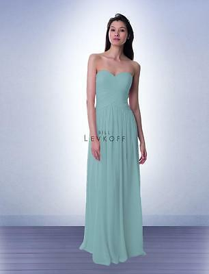 81643849ae Bill Levkoff Bridesmaid Dress 982 Prom Wedding Long Gown Strapless Chiffon  NEW