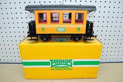 LGB/Primus 93007 2nd Class Yellow Passenger Car *G-Scale* NEW