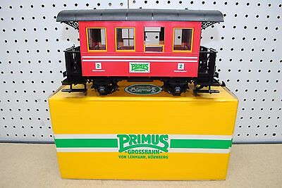 LGB/Primus 93107 2nd Class Red Passenger Car *G-Scale* NEW