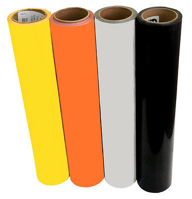 "20""x3ft Heat Transfer Vinyl Reflective choice of 4 colors for safety wear;cutter"