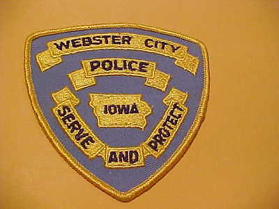 Webster City  Iowa    Police Patch