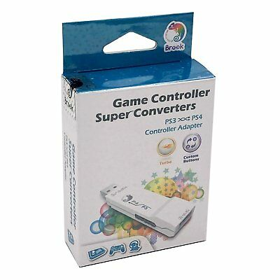 Brook Cross Plateform PS3 to PS4 Gaming Converter Controller Adapter White