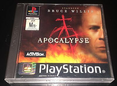 Sony PlayStation Game - Apocalypse , Starring Bruce Willis