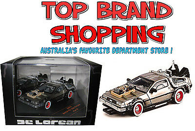 1:43 Die-Cast Back To The Future Time Machine De Lorean Part 3 Sunstar New