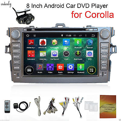 Android 4.4 Car DVD Player Radio GPS Navi For Toyota Corolla 2012 8''Stereo+CAM