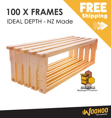 100 Pack Ideal Depth Alliance timber beehive frames - Unassembled Pack