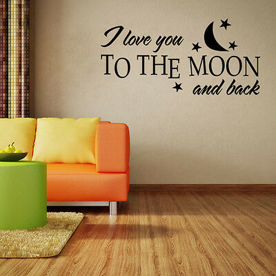 I love you to the moon and back Vinyl Decal Sticker wall decals Wall Sticker