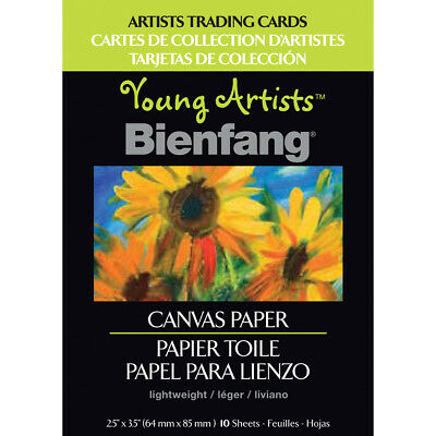 """Young Artists Trading Cards 2.5""""X3.5"""" 10/Pkg Canvas Paper 220011"""