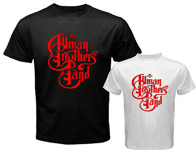 The Allman Brothers Band Rock Blues Icon Men's White Black T-Shirt Size S to 3XL