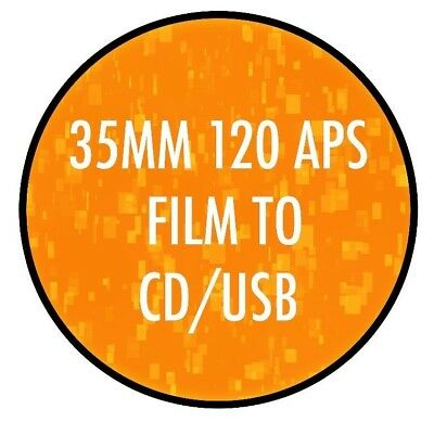 35mm 120 C41 Colour Film Processing Developing onto Disk/USB