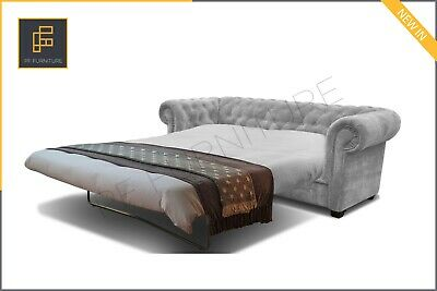 Brand New Imperial Chesterfield 3 Seater Sofa Bed Fabric
