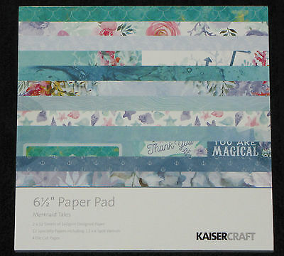 "Kaisercraft 'MERMAID TAILS' 6.5"" Paper Pad Fantasy/Girly/Reef *NEW* KAISER"