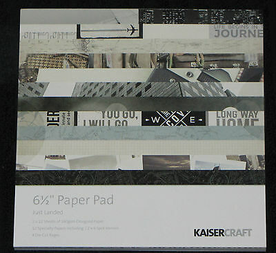 "Kaisercraft 'JUST LANDED' 6.5"" Paper Pad Holiday/Vacation/Trip *NEW* KAISER"