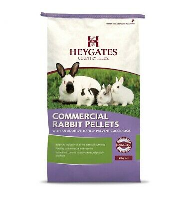 20kg Heygates Country Feeds Rabbit Pellets with Coccidiostat Rabbit Food Feed