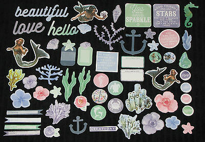 Kaisercraft 'MERMAID TAILS' Collectables Die Cut Shapes Fantasy/Girly KAISER