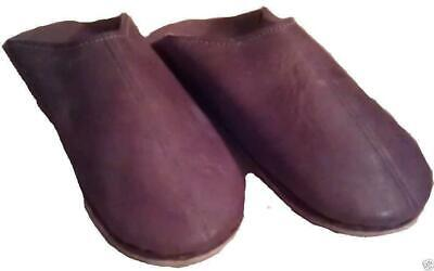 FAIR TRADE MENS LEATHER MOROCCO MOROCCAN SLIPPERS BABOUCHE LOAFERS soft sole