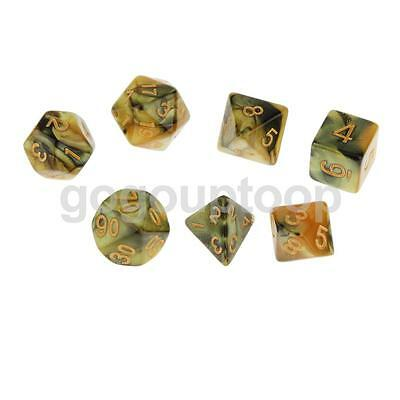 Pack of 7 Multi Sided Dice D4-D20 D&D RPG Game Roleplay Props Party Toys #1