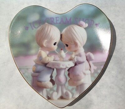 Precious Moments Our Friendship Is Soda-licious heart shaped Plate