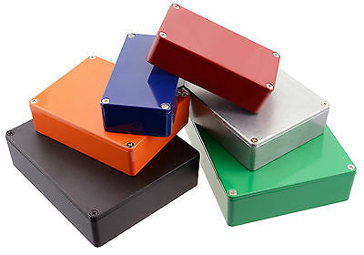 Genuine Hammond Diecast Aluminium Stompbox Enclosure / Various Colours