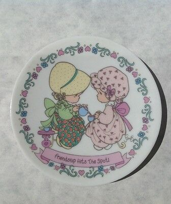 """Precious Moments """"Friendship Hits the Spot"""" 4.25"""" Plate 1994"""
