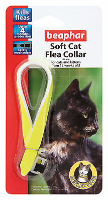 Beaphar Cat Flea Collar, Reflective Collection Yellow - Valentina Valentti UK