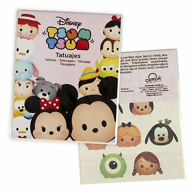 TSUM TSUM 4 Sheet Pack Temporary Tattoos Disney Tattoo Pack Party Fun Party Bag