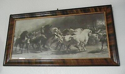 The Horse Fair by Rosa Bonheur in striped gesso frame