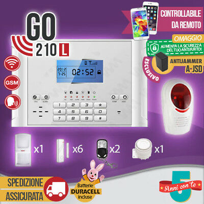 Kit Antifurto Casa Allarme Combinatore Gsm Wireless Go210L