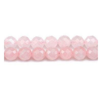 Strand Of 60+ Rose Quartz 6mm Faceted Round Beads GS5464-2