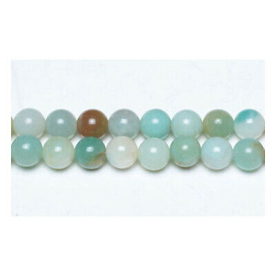 Amazonite Round Beads 8mm Multicolour 45+ Pcs Gemstones Jewellery Making Crafts