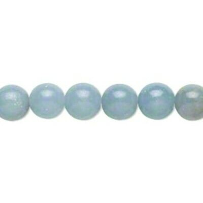 Packet Of 8 x Blue Angelite 8mm Plain Round Beads GS14237-2