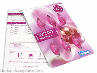 Chrysal Orchid Food 6 Drops 5-6-7 with Micronutrients 12 Months Orchid Care