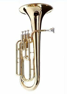 Hawk SBAR Student 3-Valves Lacquered Baritone Horn, Gold SBAR