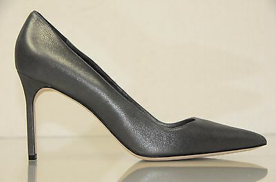 6334fbe62b5 New Manolo Blahnik BB 90 shimmery Grey Silver Suede d leather Shoes Pumps  40.5