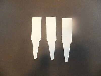 """Set of 100 - 4"""" PLASTIC PLANT LABELS white seed starting seedlings TAGS"""