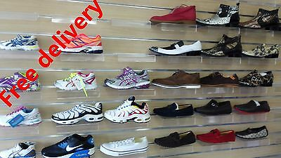10 x shoe shelf for slat wall panel display
